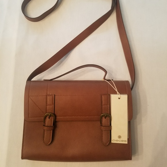 Pieces Handbags - NWT Faux Leather Crossbody Satchel